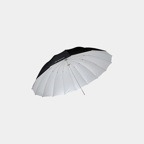 7' Parabolic Umbrella (White/Black)